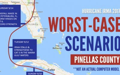 Hurricane Irma Worst-Case Scenario for Pinellas County, FL