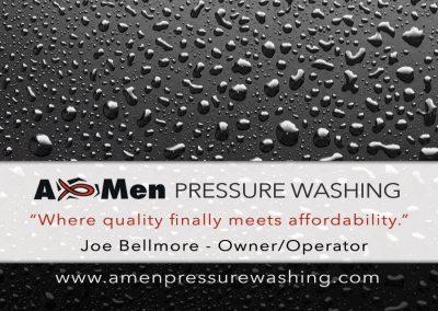 Amen Pressure Washing (front)