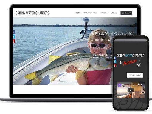 Skinny Water Charters Web Design & SEO