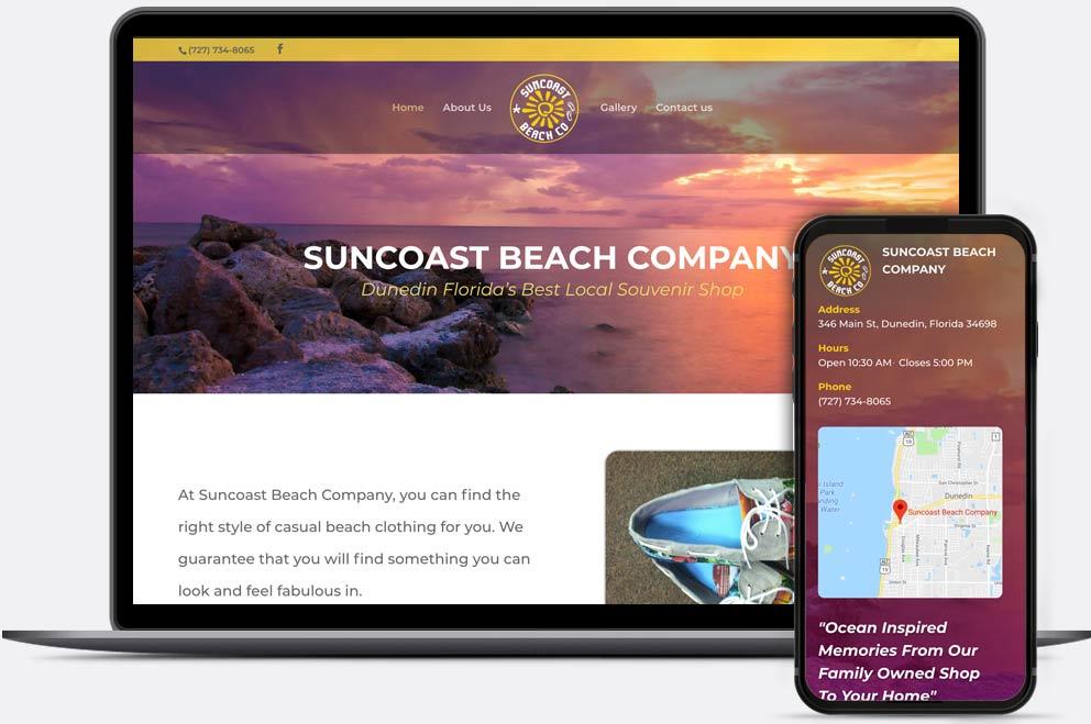 Suncoast Beach Co Web Design