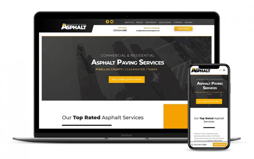 Anderson and Sons Asphalt Website and SEO