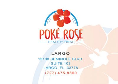 Poke Rose - Restaurant Loyalty Business Card Design