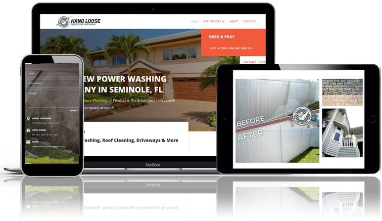July 2020 Pressure Washing Website for Hang Loose Pressure Washing